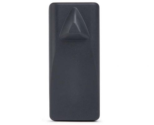 Security tag with easy application and removal features for employees.