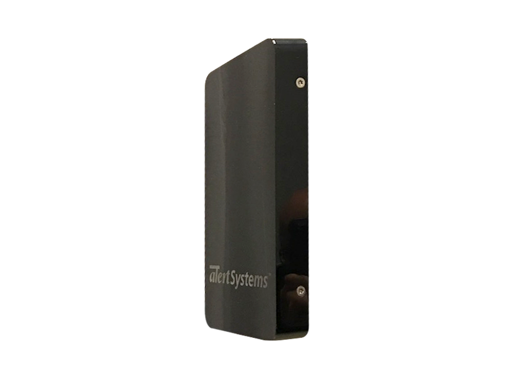 A small black box, the Apparelguard, used as a security system and anti-theft device in retail.