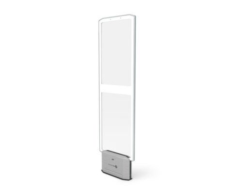 Retail EAS security system with a 6 foot detection radius.